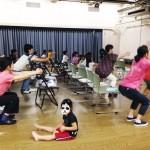 小学校で親子体操セミナー開催