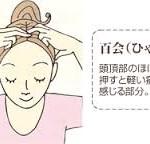 自宅でできる姿勢改善のツボ | 百会(ひゃくえ)
