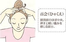 自宅でできる姿勢改善のツボ   百会(ひゃくえ)
